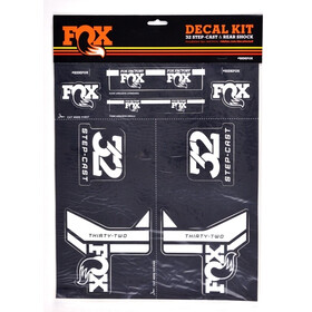 Fox Racing Shox AM Step-Cast Kit adesivi, white/grey